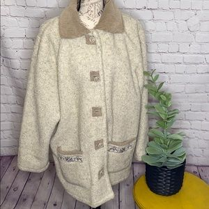 Anthony Richards shearling teddy button jacket